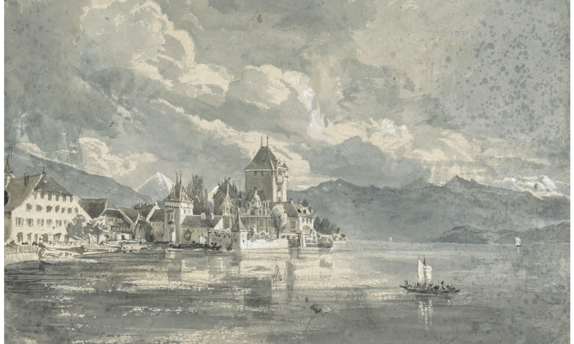 Oberhofen painting by La Trobe