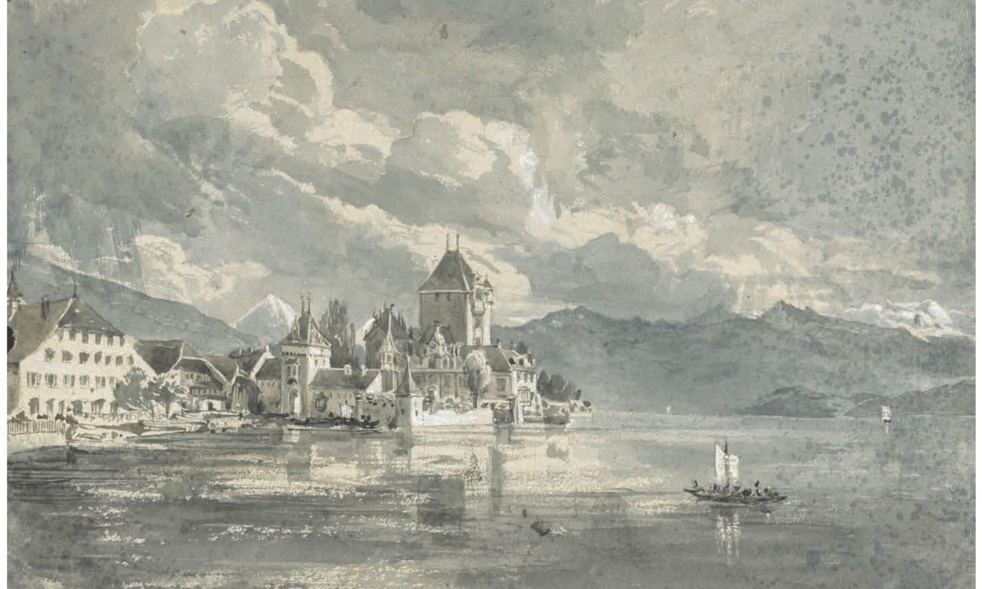 Oberhofen painting by La Trobe